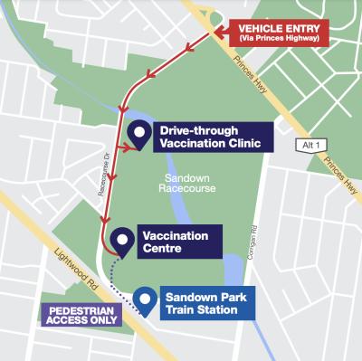 sandown-drive-through-map